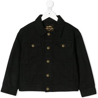 Mini Rodini Leopard Patch Denim Jacket