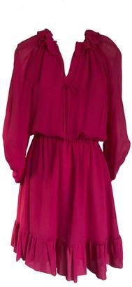 Onelady Silk Dress Short Pink Fran