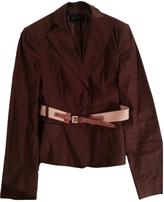 BCBGMAXAZRIA Brown Linen Jacket