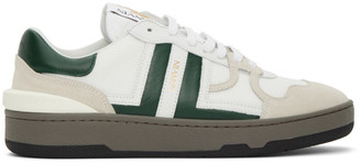 Lanvin White and Green Clay Low-Top Sneakers