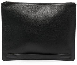 Discord Yohji Yamamoto Rectangular Calf Leather Clutch Bag