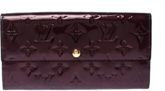 Louis Vuitton Rouge Fauviste Monogram Vernis Sarah Continental Wallet