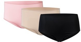 Gildan Gilden Women's Tag Free Microfiber Brief Panties, 3-Pack