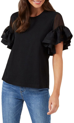 French Connection Flutter Sleeve Tee
