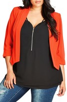City Chic Plus Size Women's Crop Blazer