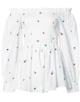 Suno Smocked Off-the-Shoulder Top