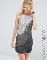 Maya Petite Shift Dress In Tonal Sequins
