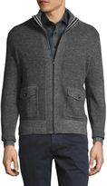 Toscano Men's Ribbed Pocket Sweater