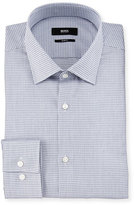HUGO BOSS Jenno Mini-Houndstooth Slim-Fit Dress Shirt, Navy/White