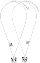 Accessorize 2x BFF Panda Pendant Necklaces