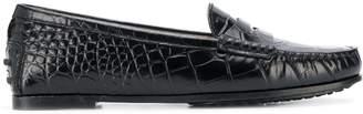 Tod's crocodile print loafers