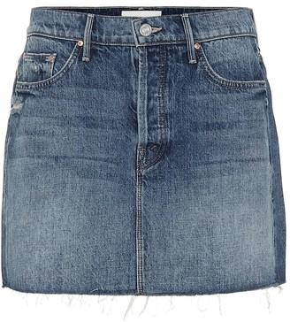 Mother The Vagabond denim miniskirt