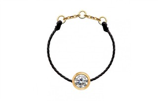 Redline 18ct Yellow Gold And Diamond Pure Thread Ring (black)