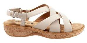 SoftWalk Bonaire Crisscross-Strap Leather Slingback Sandals