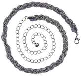 Trimming Shop Women's Fashion Waist Belts Plait Mesh Rhinestone