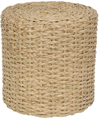 Oriental Furniture Rush Grass Knotwork Stool, Natural