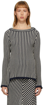 Eckhaus Latta Grey Serpentine Stripe Sweater