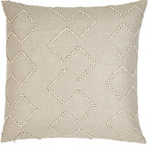 Dransfield and Ross Beaded Mythical Lines Pillow-Tan