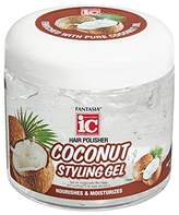 FANTASIA Gel Coconut Styling Gel, 16 Ounce