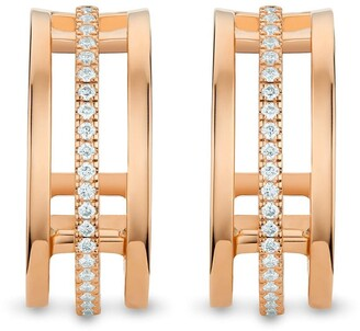 De Beers 18kt rose gold diamond Horizon earrings