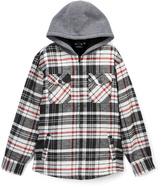 Burnside Charcoal Outsider Sherpa Flannel Jacket - Boys