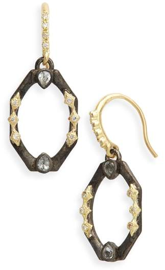 Armenta Old World Octagonal Diamond & Sapphire Drop Earrings