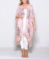 Paparazzi Dusty Rose Tie-Dye Kimono
