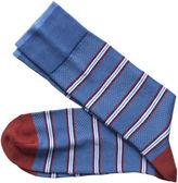Johnston & Murphy Birdseye Stripe Socks