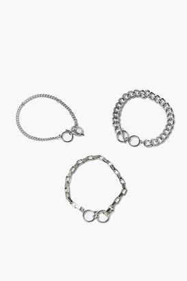 Forever 21 Toggle Chain Bracelet Set