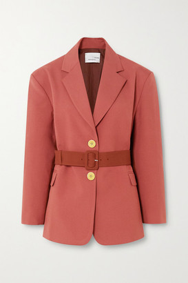 Bouguessa Belted Two-tone Cady Blazer - Brick