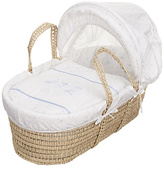 O Baby Obaby Hello Little One Moses Basket - Blue