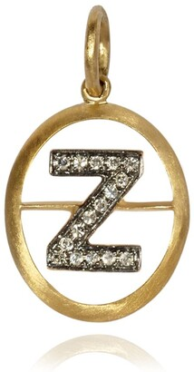 Annoushka Yellow Gold and Diamond Initial Z Pendant