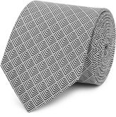 Reiss Iden - Silk Patterned Tie in White, Mens