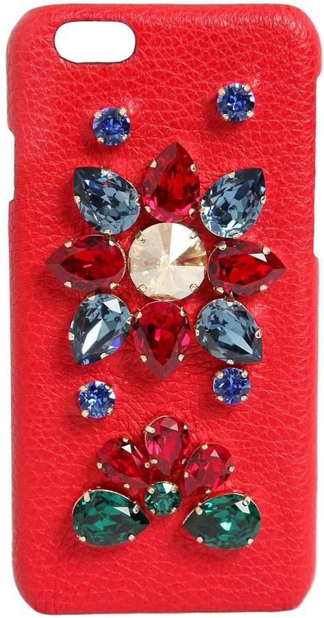 Dolce & Gabbana Crystals Embellished Iphone 6 Case