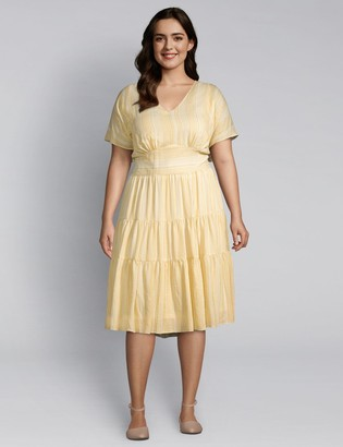 Lane Bryant Tiered Seam Fit & Flare Dress