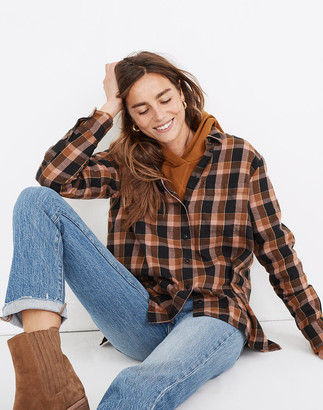 Madewell Flannel Oversized Ex-Boyfriend Shirt in Gideon Plaid
