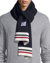 Moncler Sciarpa Tricot-Knit Virgin Wool Scarf