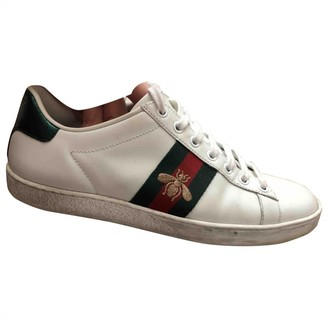 Gucci Ace White Fur Trainers