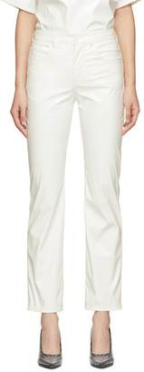 MM6 MAISON MARGIELA White Faux-Leather Trousers