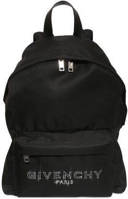 Givenchy Logo Print Nylon Backpack