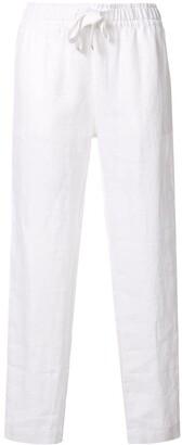 Venroy Drawstring Linen Trousers