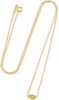 Jennifer Meyer Mini Evil Eye 18-karat Gold Diamond Necklace