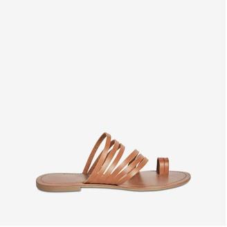 Joe Fresh Women's Toe Loop Slides, Tan (Size 6)