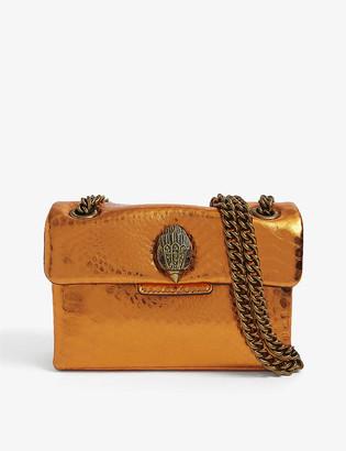 Kurt Geiger Kensington snake-embossed leather bag