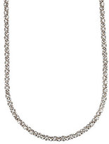 Anne Klein Long Pav Crystal Necklace
