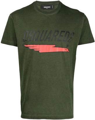DSQUARED2 underlined logo print T-shirt