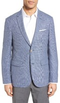 Sand Men's Trim Fit Check Wool & Linen Sport Coat