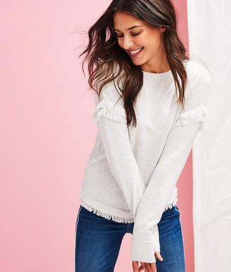 Vineyard Vines Drop Shoulder Fringe Textured Sweater