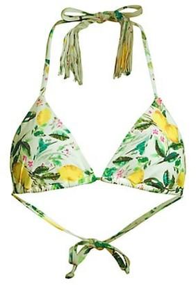 PQ Embroidered Triangle Bikini Top
