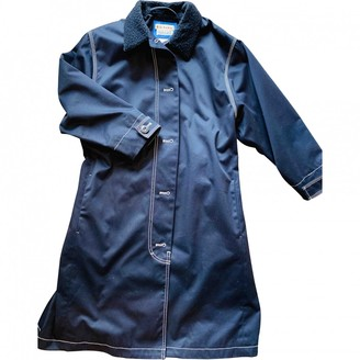 Acne Studios Bla Konst Navy Cotton Coat for Women